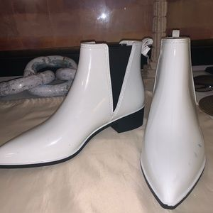 Jeffrey Campbell rubber booties